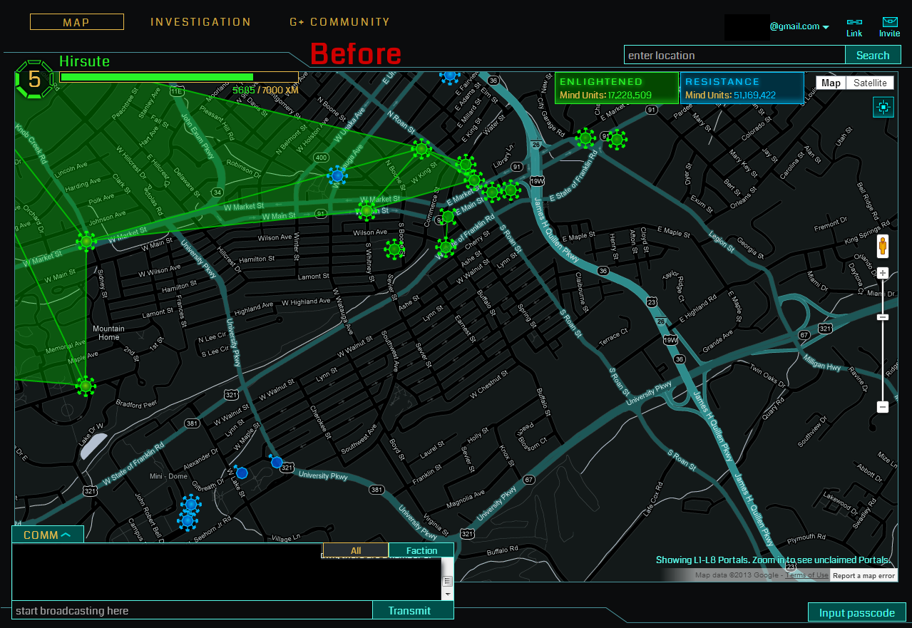 Ingress Intel Map – Hiding fiddly bits. | Pneumonochrome on success map, intelligence world map, fire emblem awakening map, eclipse map, iris map, seattle center area map, abilene ks map, nineteen eighty-four map, the last of us map, show address on map, oracle map, abilene kansas city map, augmented reality map, egress map, wollongong australia map, grand theft auto v map, java map, scavenger hunt map, google play map,